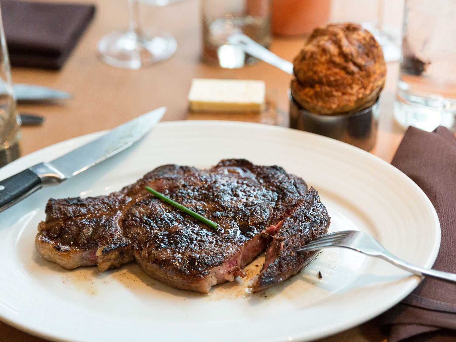40-day dry aged Creekstone Farms ribeye steak [Photo: Serious Eats]