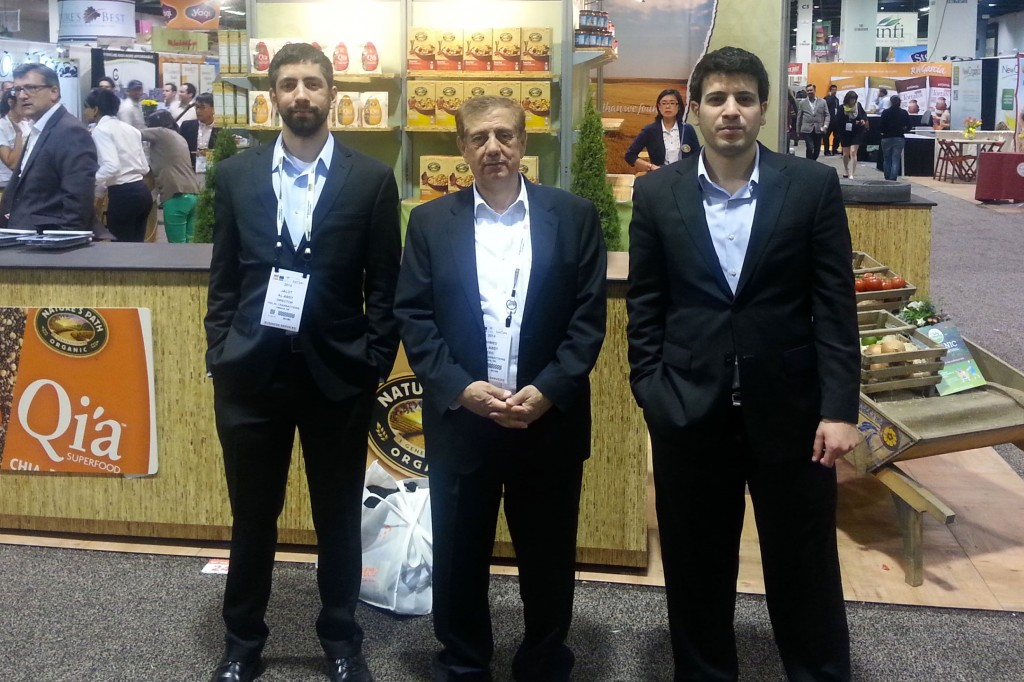 Dr. Alabsy (middle) with the HTO crew at the 2014 Natural Products Expo West. [Photograph: Halal Transactions of Omaha Blog]