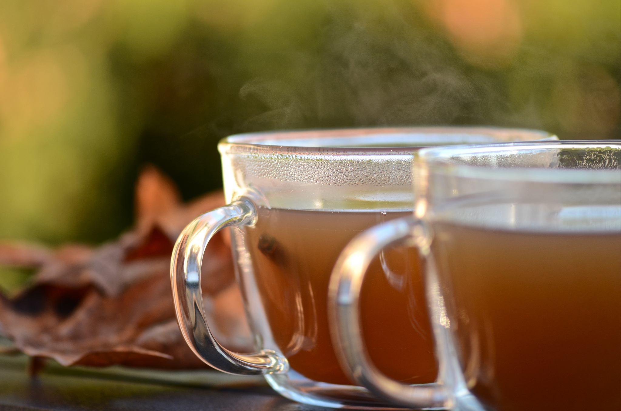 Hot apple cider with cinnamon sticks. [Photo: Jacqueline Sinclair]