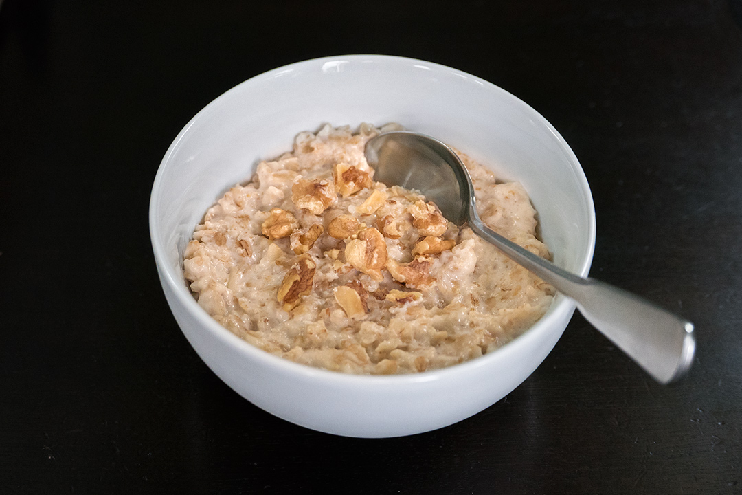Maple syrup and brown sugar oatmeal