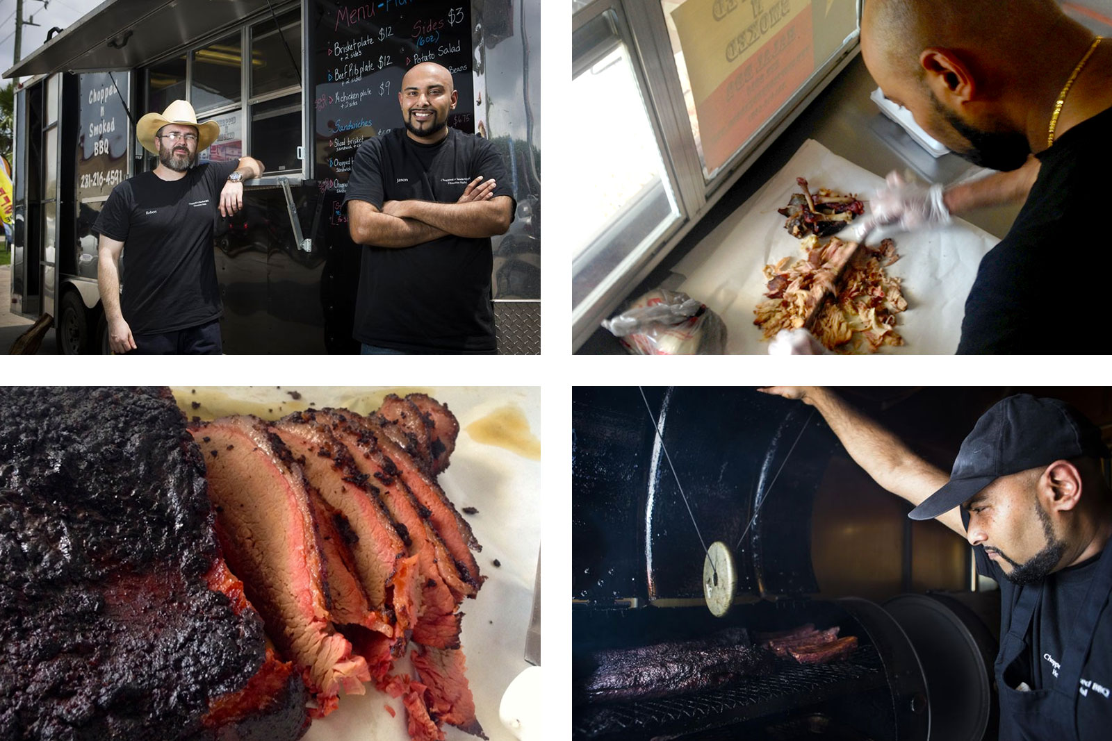 Chopped N Smoked, a fully Halal Texas barbecue food truck in Sugar Land near Houston [Photo: Marie D. De Jesus/Houston Chronicle via AP & Matthew Bell/pri.org]