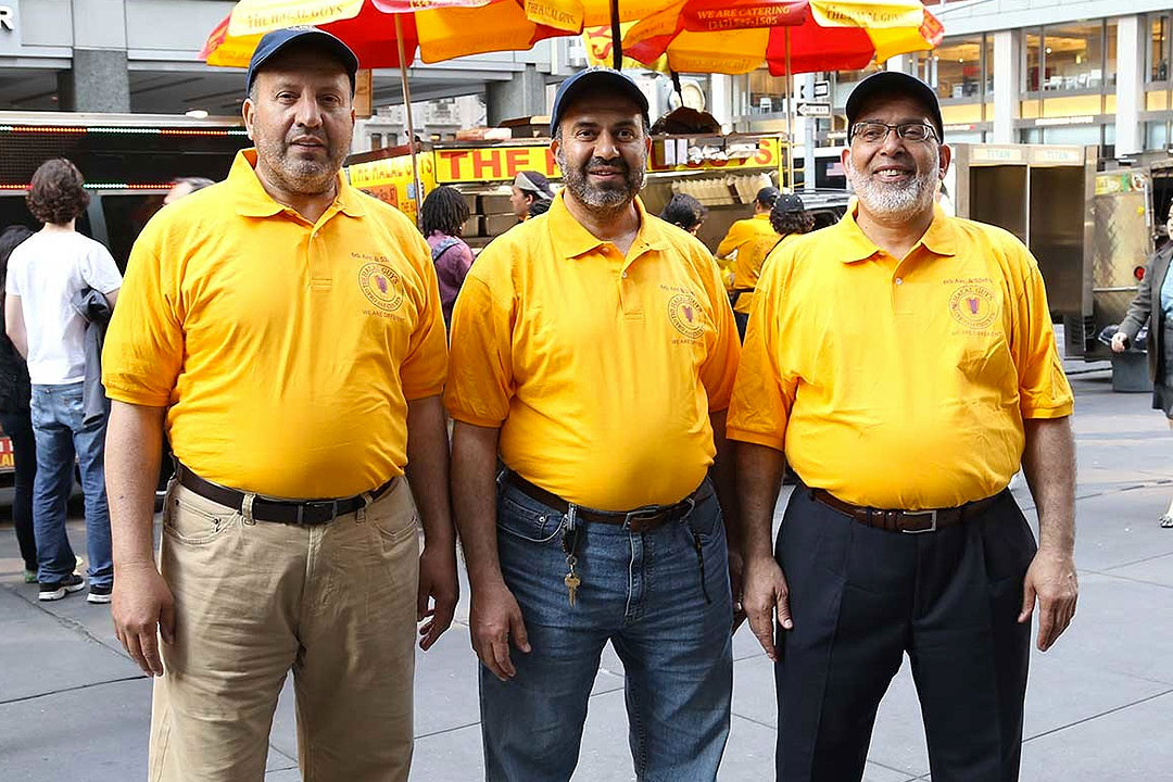 Muhammed Abouelenein, Ahmed Elsaka, and Abdelbaset Elsayed, founders of The Halal Guys [Photo: The Halal Guys]